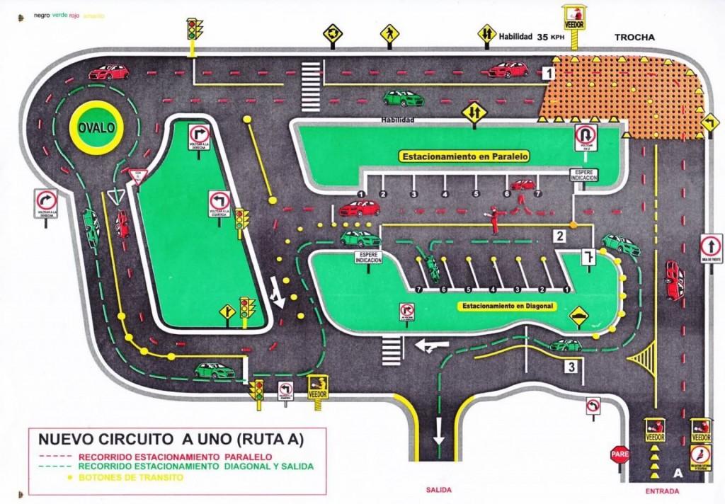 Circuito de manejo en sede Conchán.